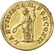 Aureus - Pertinax (LAETITIA TEMPOR COS II; Rome) – reverse