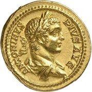 Aureus - Caracalla (ROMAE AETERNAE; Rome) – obverse