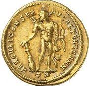 Aureus - Contantius I (HERCVLI CONSER AVGG ET CAESS NN; Strike as Caesar under Maximianus Herculius; Treveri) – reverse