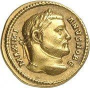 Aureus - Galerius (IOVI CONSERVAT AVGG ET CAESS NN; Strike as Caesar under Diocletianus; Treveri) – obverse