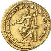 Aureus - Galerius (IOVI CONSERVAT AVGG ET CAESS NN; Strike as Caesar under Diocletianus; Treveri) – reverse