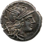 Denarius (Renia: Caius Renius; C RENI ROMA) – obverse