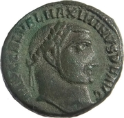 Follis - Maximinus II (GENIO AVGVSTI, Alexandrie) – obverse