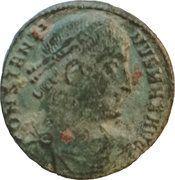 Nummus - Constantinus (GLORIA EXERCITUS, Thessalonica mint) – obverse