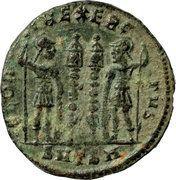 Nummus - Constantinus (GLORIA EXERCITUS, Thessalonica mint) – reverse