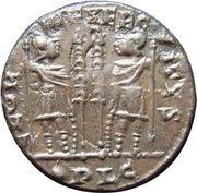 Nummus - Constantinus I (GLORIA EXERCITVS; Lugdunum mint) – reverse