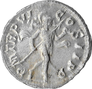 Denarius - Severus Alexander (PM TRP VI COS II PP; Mars) – reverse