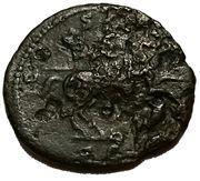 As - Hadrianus (COS III PP SC; horse to right) – reverse