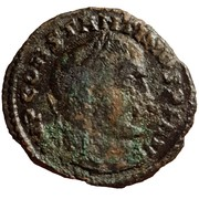 Follis Constantinus I (IOVI CONSERVATORI; Thessalonica) – obverse