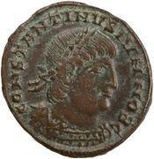 Follis - Constantinus II (GLORIA EXERCITVS; one standard; Thessalonica) – obverse