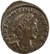 Follis - Constantinus II (GLORIA EXERCITVS; one standard; Constantinople) – obverse