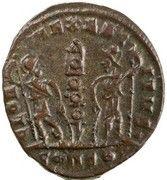 Follis - Constantinus II (GLORIA EXERCITVS; one standard; Constantinople) – reverse
