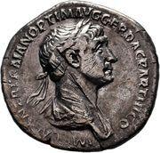 Denarius - Traianus (P M TR P COS VI P P SPQR; Felicitas) – obverse