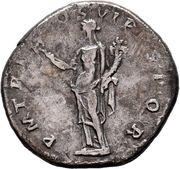 Denarius - Traianus (P M TR P COS VI P P SPQR; Felicitas) – reverse