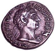 Denarius - Traianus (PM TRP COS III PP; Rome) – obverse