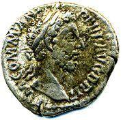 Commodus denarius – obverse