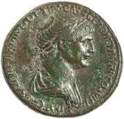 Sestertius - Traianus (SENATVS POPVLVSQVE ROMANVS SC; Rome) – obverse