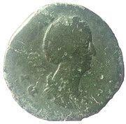 Sestertius - Faustina I (Vesta: AVGVSTA) – obverse