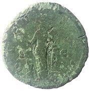 Sestertius - Faustina I (Vesta: AVGVSTA) – reverse
