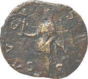 Sestertius - Faustina I (DIVA FAVSTINA / AVGVSTA, Vesta with palladium and sceptre) – reverse