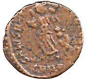 Nummus - Theodosius I (SALVS REI-PVBLICAE; Nicomedia) – reverse