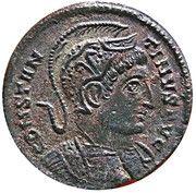 Centenionalis - Constantinus I (BEATA TRANQVILLITAS; Trier mint) – obverse