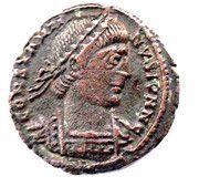 Follis - Constantinus II (GLORIA EXERCITVS; Arelate) – obverse