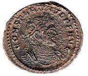 Follis - Constantinus I (SOLI INVICTO COMITI; Trier mint) – obverse