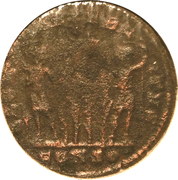 Follis - Constantinus II (GLORIA EXERCITVS; Two standards; Constantinopolis) – reverse