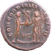 Fraction - Galerius (CONCORDIA MILITVM; Cyzicus mint) – reverse