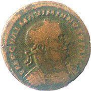 Follis Maximianus Herculeus (GENIO POP ROM S A / IMP C VAL MAXIMIANVS PF AVG, Trier mint) – obverse