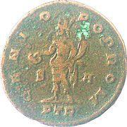 Follis Maximianus Herculeus (GENIO POP ROM S A / IMP C VAL MAXIMIANVS PF AVG, Trier mint) – reverse