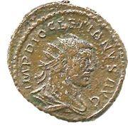 Antoninianus - Diocletianus (IMP DIOCLETIANVS AVG, PROVIDENTIA DEOR, Providentia standing) – obverse
