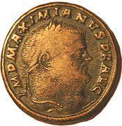 Follis - Maximianus (SACR MONET AVGG ET CAESS NOSTR) – obverse