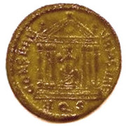 Follis - Maxentius (CONSERV URBSVAE) – reverse
