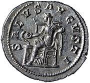 """Denier Maximin Ier (le Thrace) """"Imperator Maximinus Pius Augustus"""" – reverse"""
