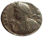 Follis - Crispus (BEATA TRANQVILLITAS ; Trier Mint) – obverse