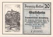 20 Heller (Rosenburg) – obverse