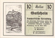 10 Heller (Rosenburg) – obverse