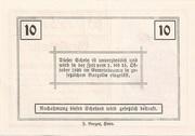 10 Heller (Rosenburg) – reverse