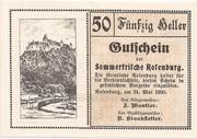 50 Heller (Rosenburg) – obverse