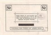50 Heller (Rosenburg) – reverse