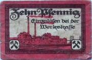 10 Pfennig (Rositzer Braunkohlenwerke) – reverse