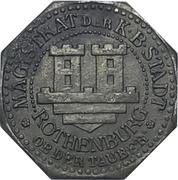 5 Pfennig - Rothenburg ob der Tauber – obverse