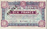 10 francs - Villes de Roubaix et de Tourcoing – obverse