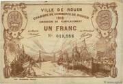 1 franc - Chambre de Commerce de Rouen – obverse