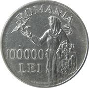 100 000 Lei - Mihai I – reverse
