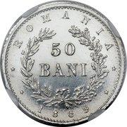 50 Bani - Carol I (Pattern Strike) – reverse