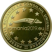 50 Bani (Presidency of the Council of the European Union) -  reverse