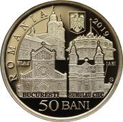 50 Bani (The Apostolic journey of His Holiness Pope Francis to Romania) -  obverse